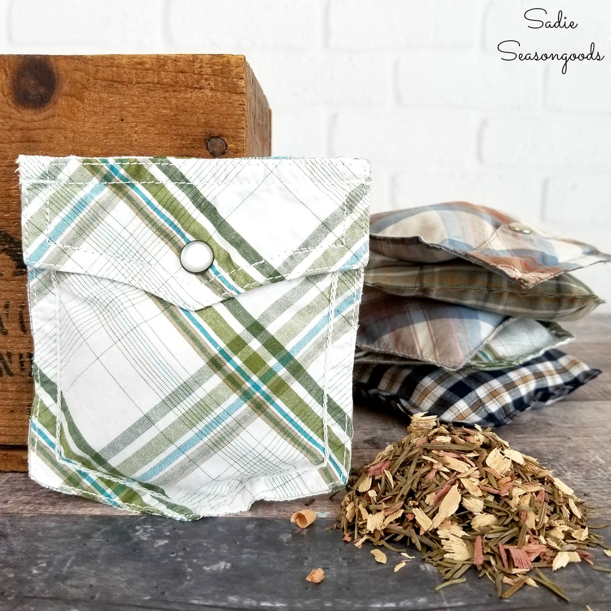 Scented Sachets from Repurposed Clothing as DIY Gifts for Dad