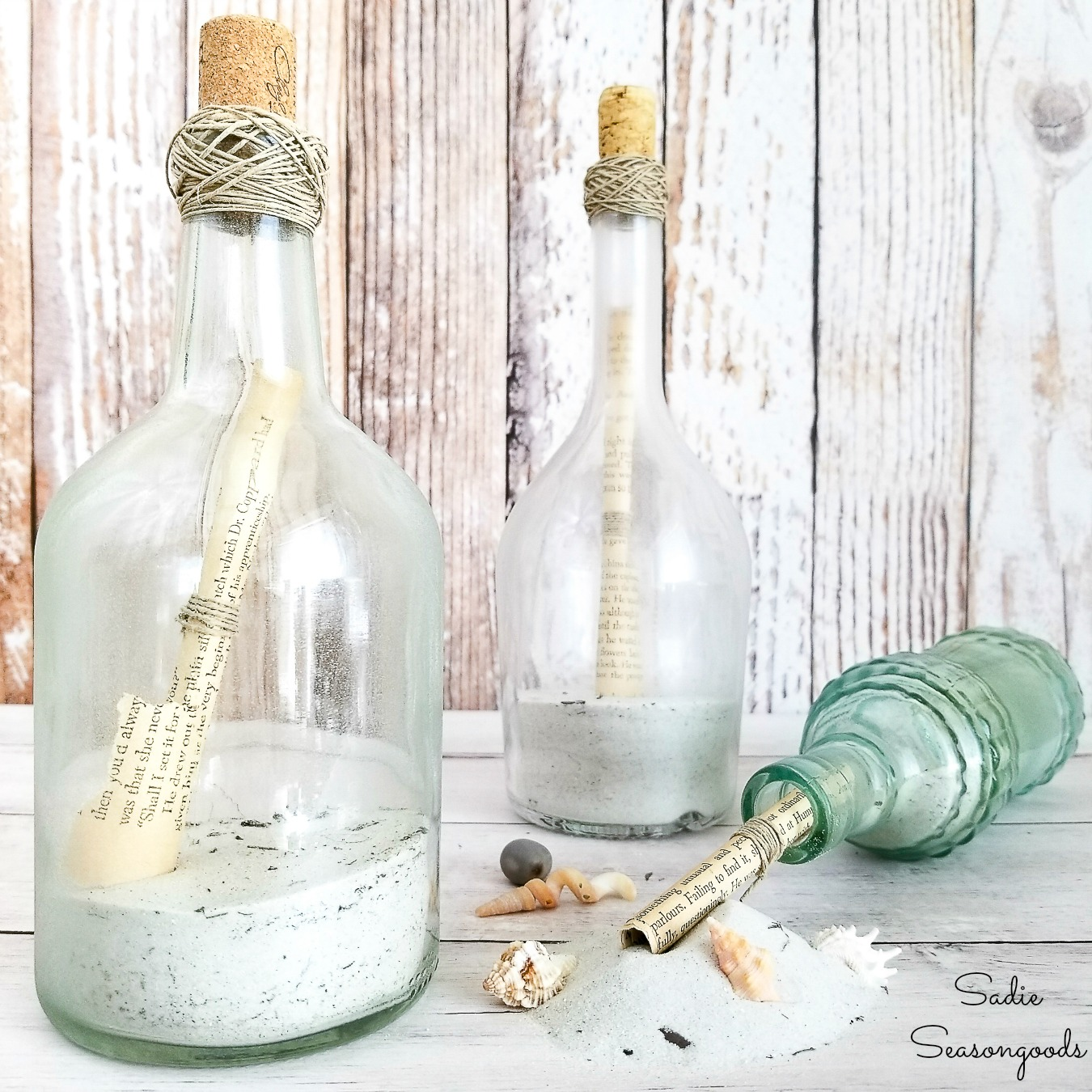 Repurpose Wine Bottles as Message in a Bottle