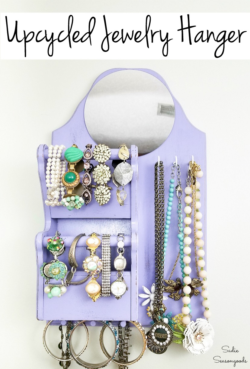 Wall hanging jewelry organizer for Dorm room storage