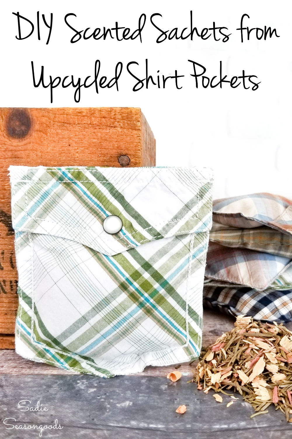 drawer sachets as diy gifts for him
