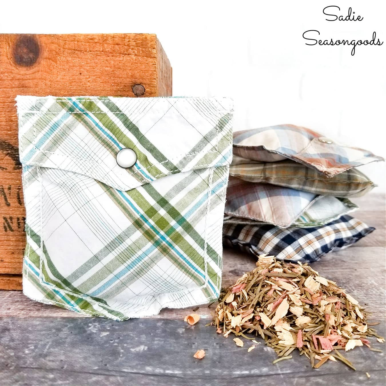 Drawer Sachets from Shirt Pockets
