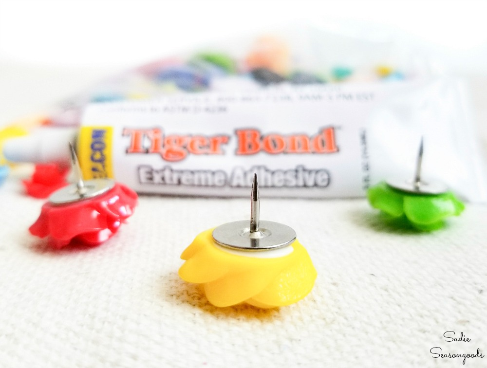 Eco friendly glue to make the cute push pins
