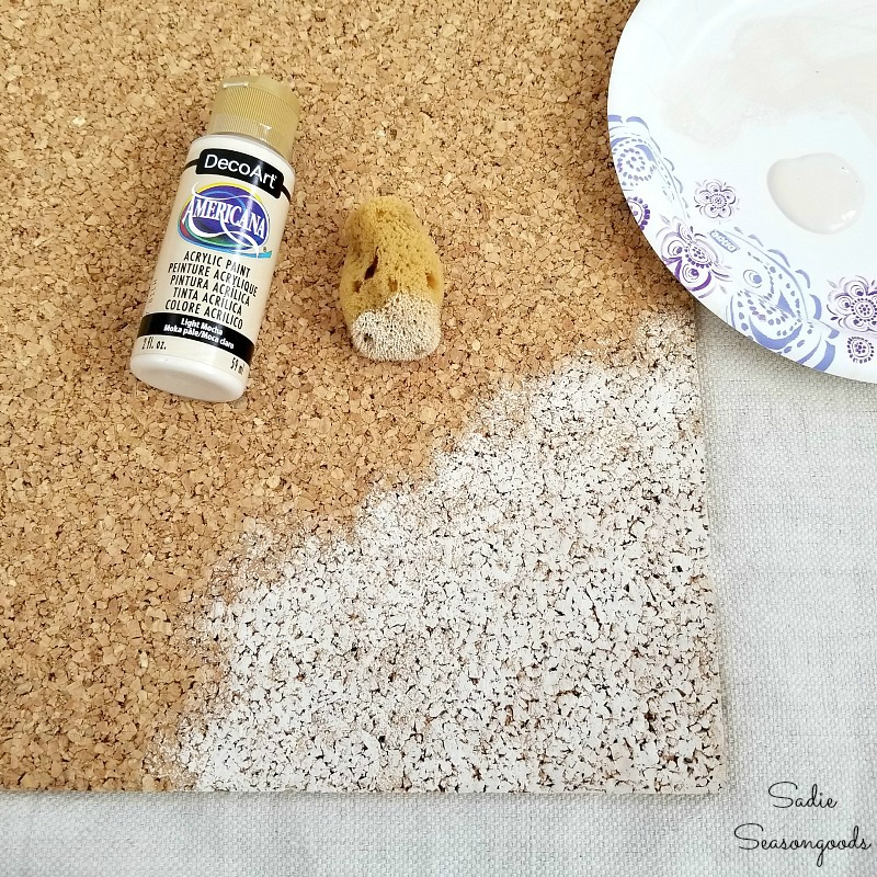 Painting cork board to become the decorative cork boards and office decor