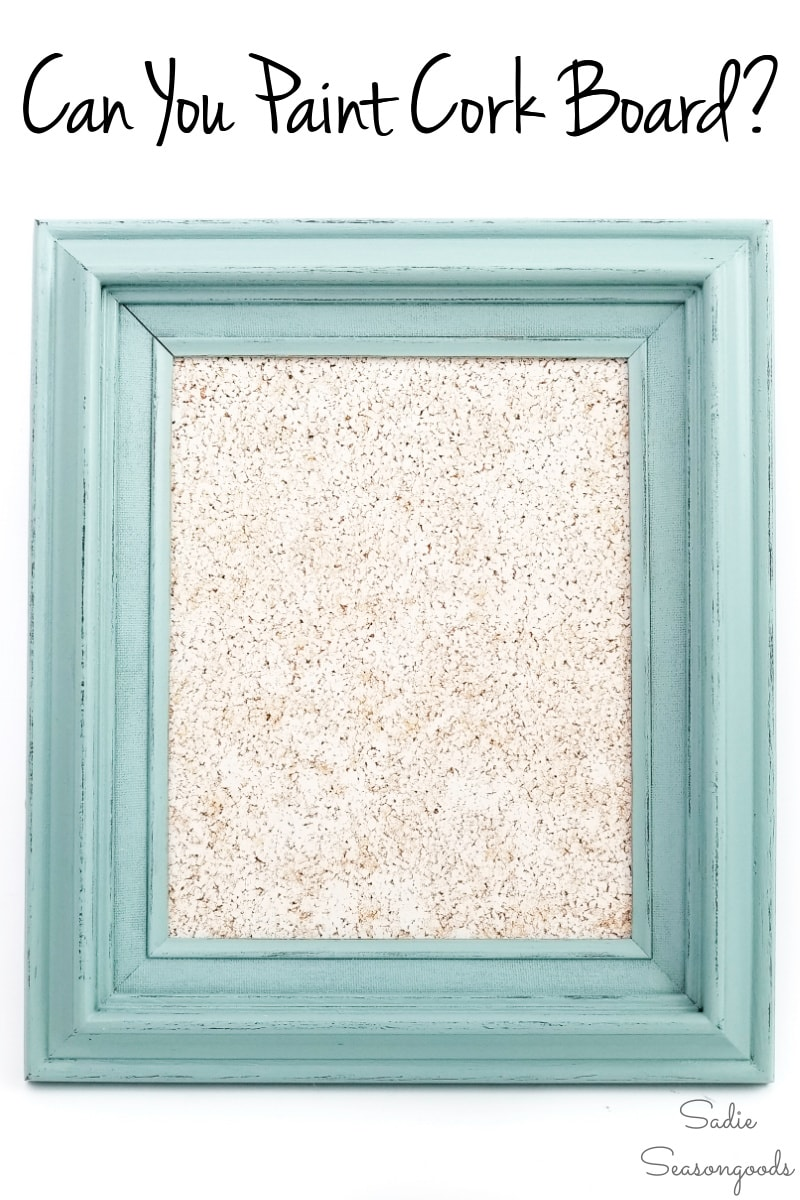How to paint cork board