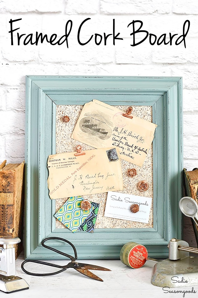 Painted cork board for home office decor