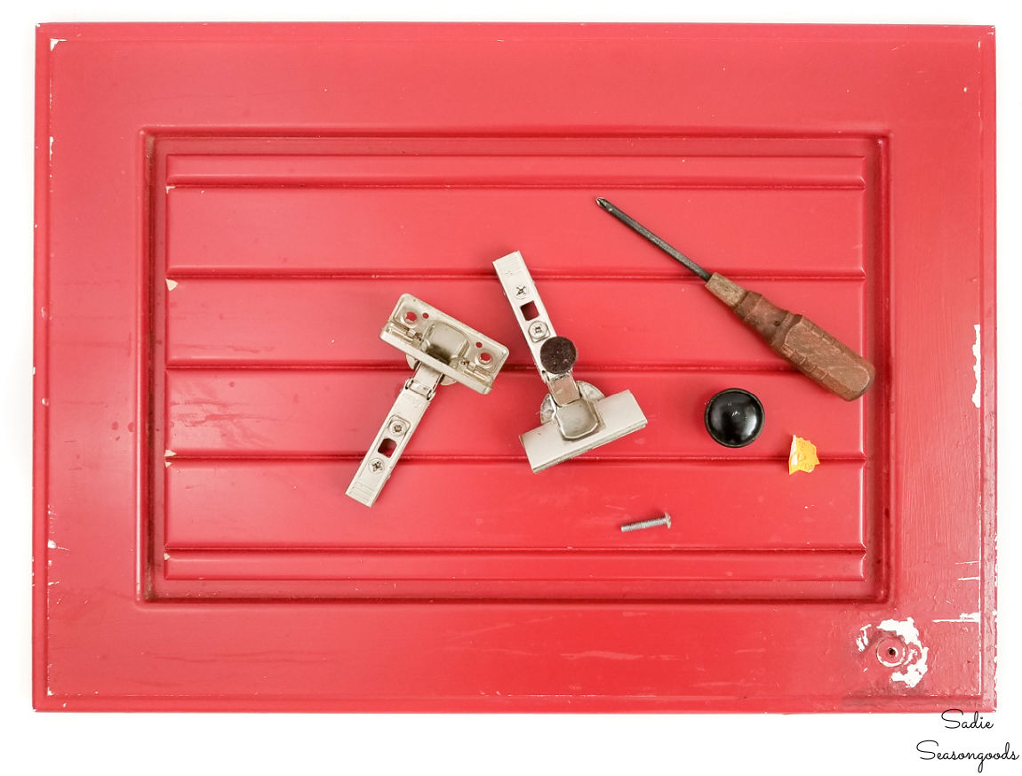 preparing a cabinet door for painting