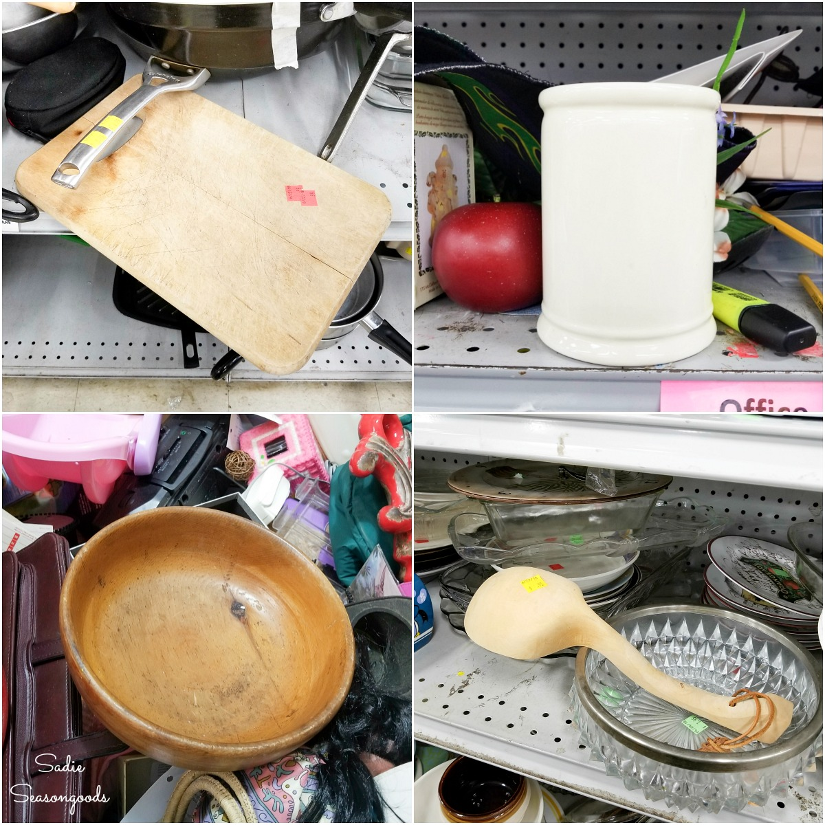 Farmhouse kitchen accessories for thrift home decor