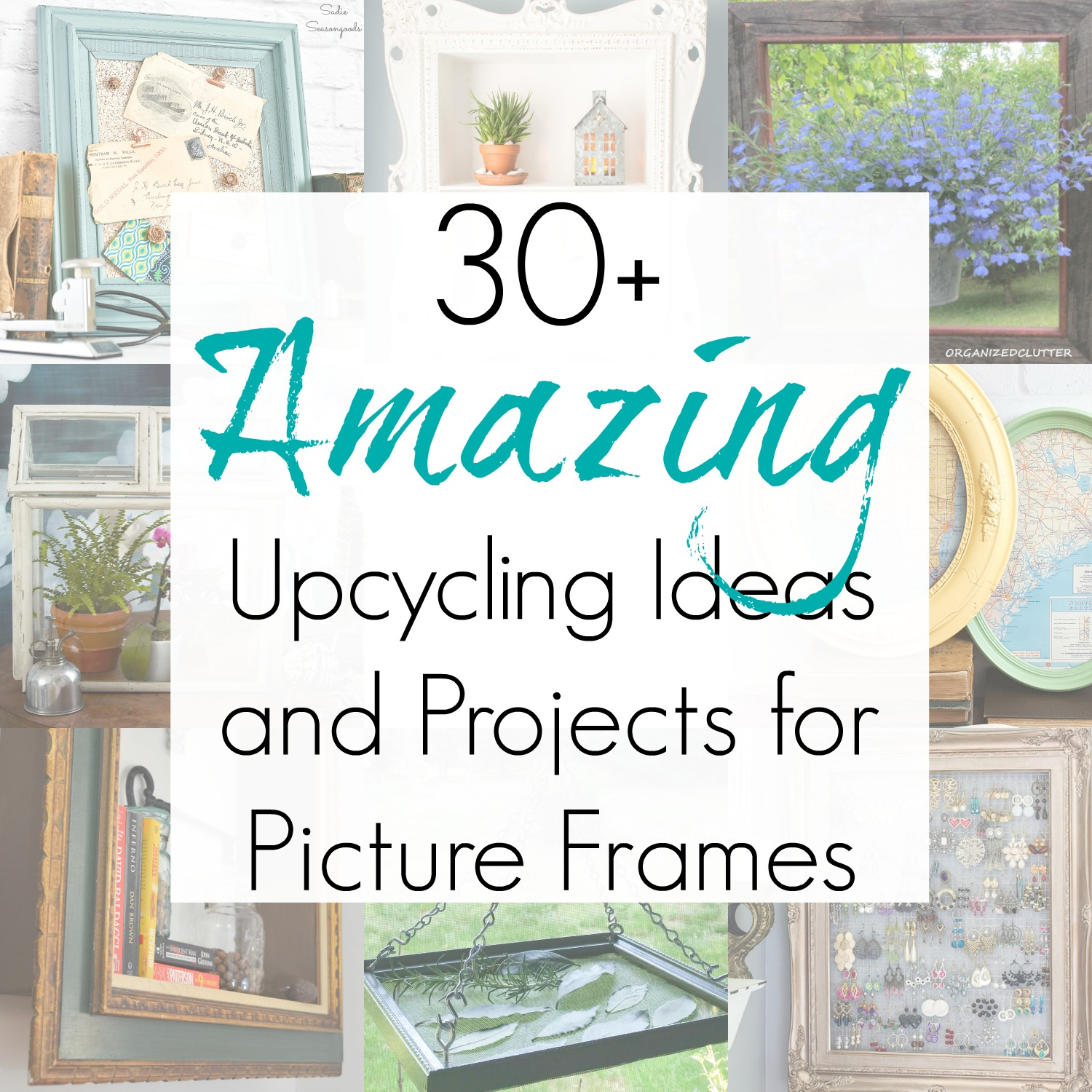 30+ Ideas for Upcycled Picture Frames from the Thrift Store