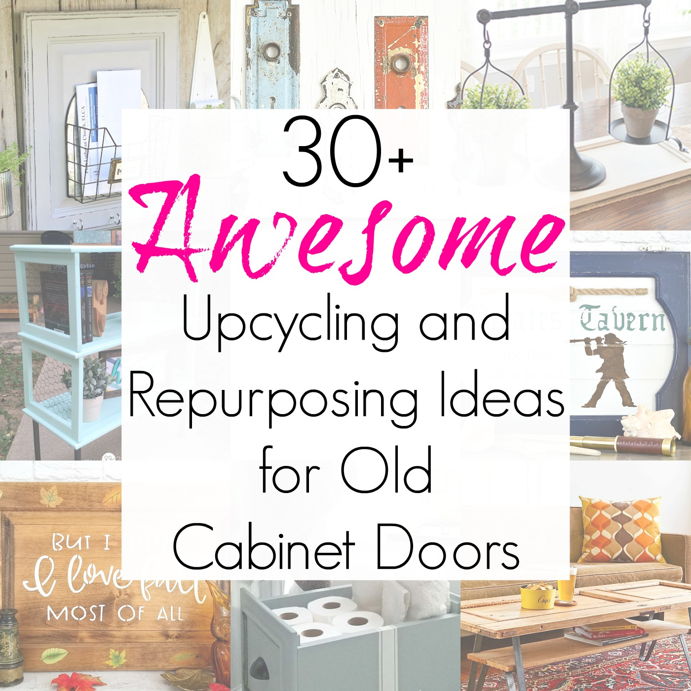 Upcycling Ideas and Craft Projects that Repurpose Cabinet Doors