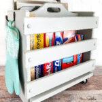 Baking Pan Storage in a Kitchen Caddy