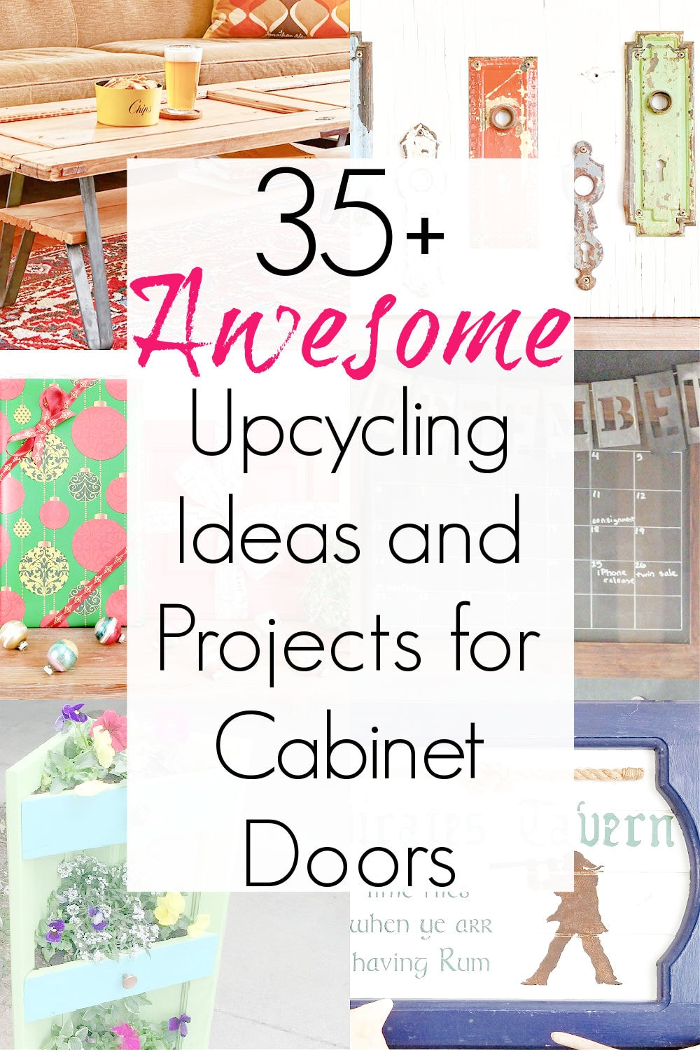 upcycled cabinet doors and repurpose cabinet doors