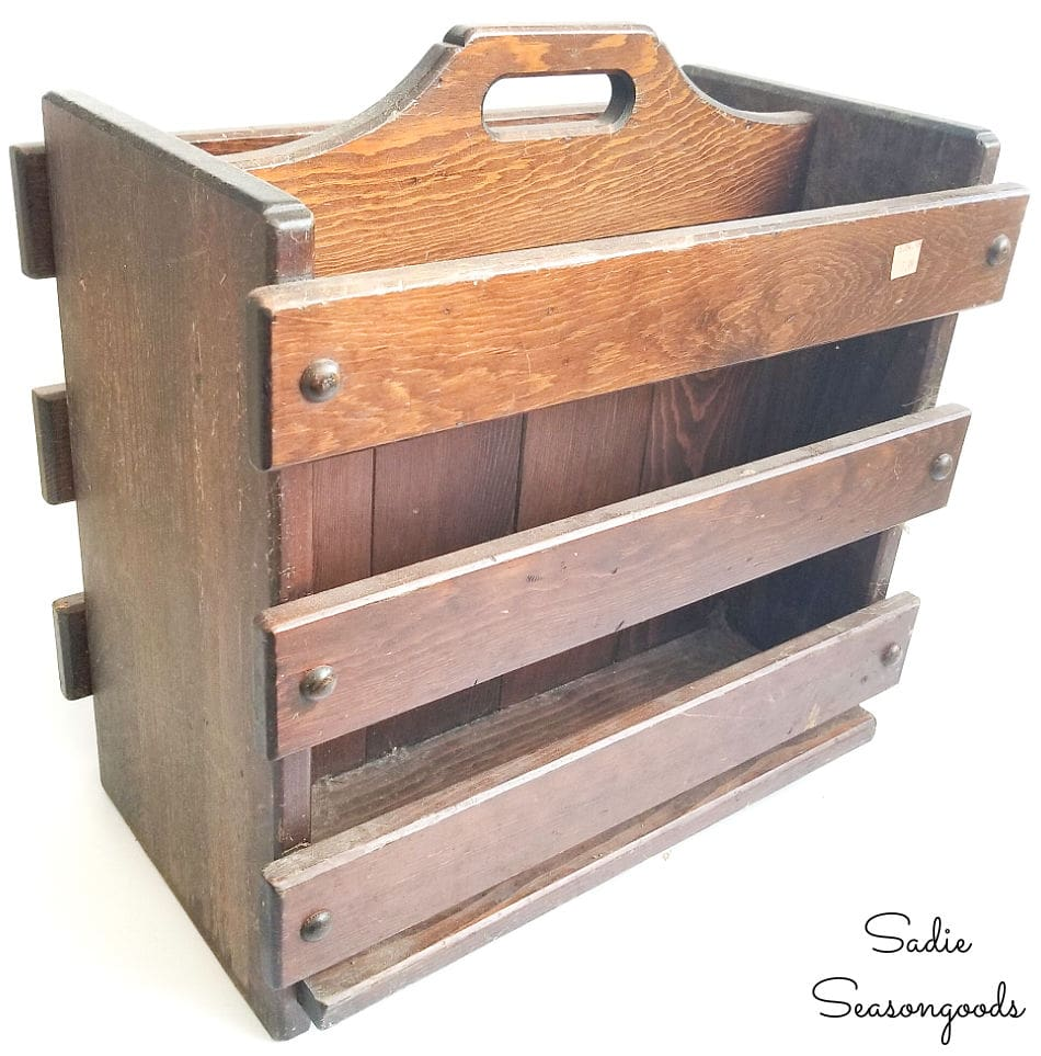 Upcycling idea for a large wooden magazine holder