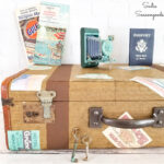 Vintage Luggage Decor with an Old Suitcase