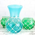 Glass Fishing Floats from Thrift Store Vases for Coastal Home Decor