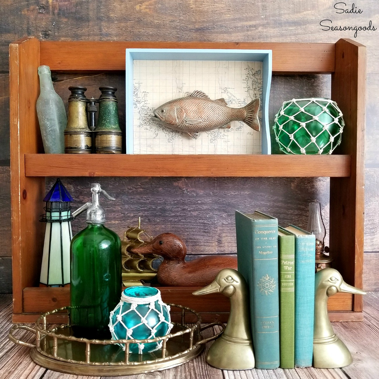 How to find lake house decor or lake house decorating ideas at the thrift store and with upcycling ideas by Sadie Seasongoods / www.sadieseasongoods.com