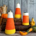 Decorative Candy Corn with Serger Thread