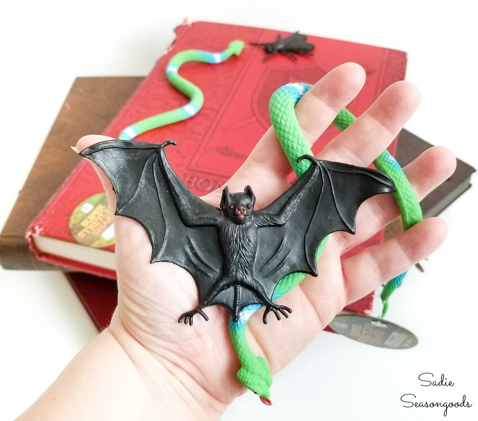 Craft supplies for making a Halloween spell book