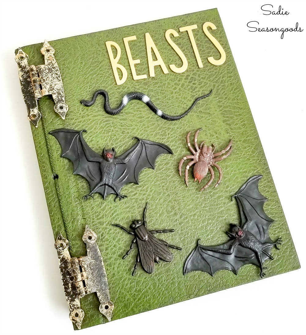 Painting books as Halloween spell book decor