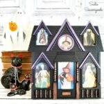 Haunted House Decor from a House Shaped Picture Frame