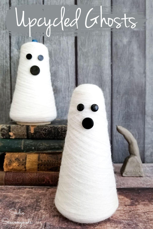 thread cones as cute halloween ghost