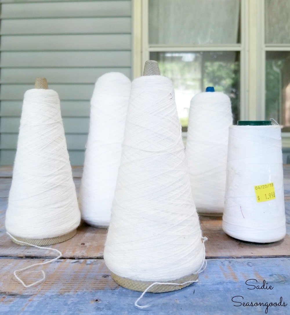 upcycling project for thread cones