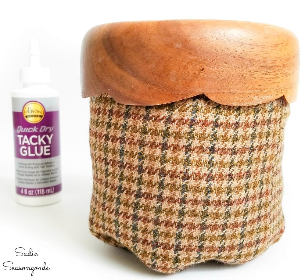 Acorn cap from a wooden salad bowl