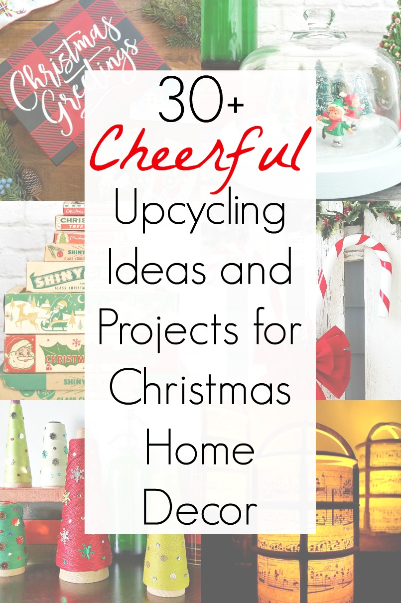Christmas Home decor and upcycling ideas for a Christmas project with vintage Christmas decorations