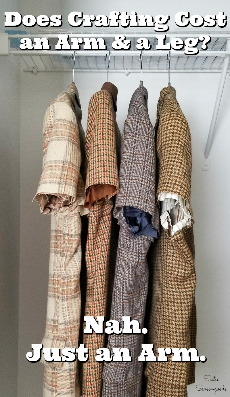 Upcycling project ideas for tweed sport coats from the thrift store