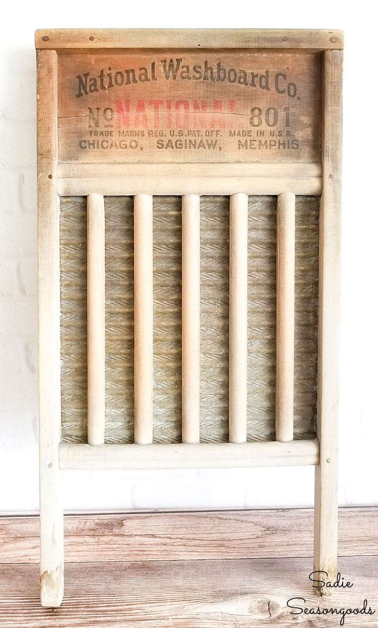 Antique washboard for upcycling