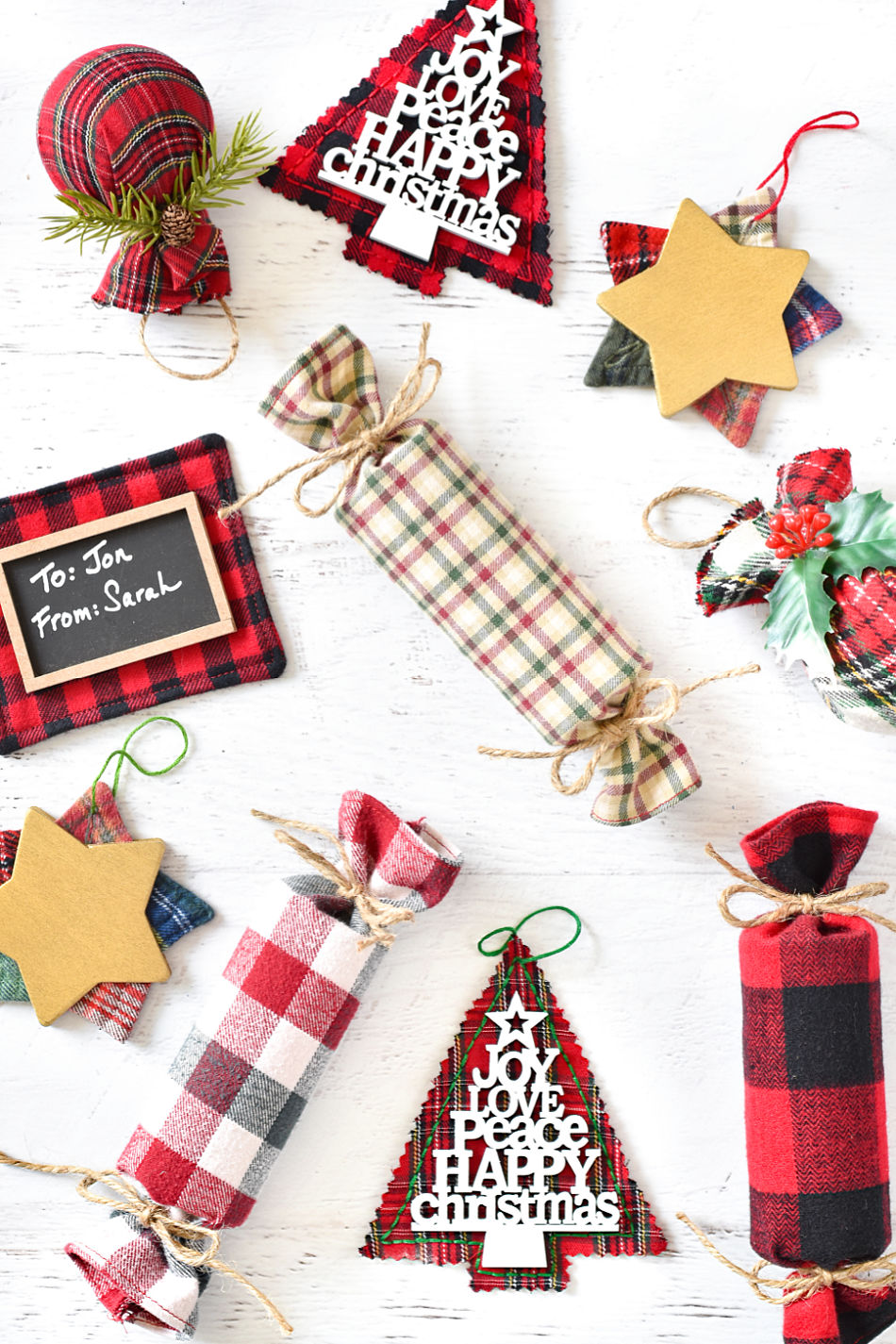 christmas projects in crafting with flannel