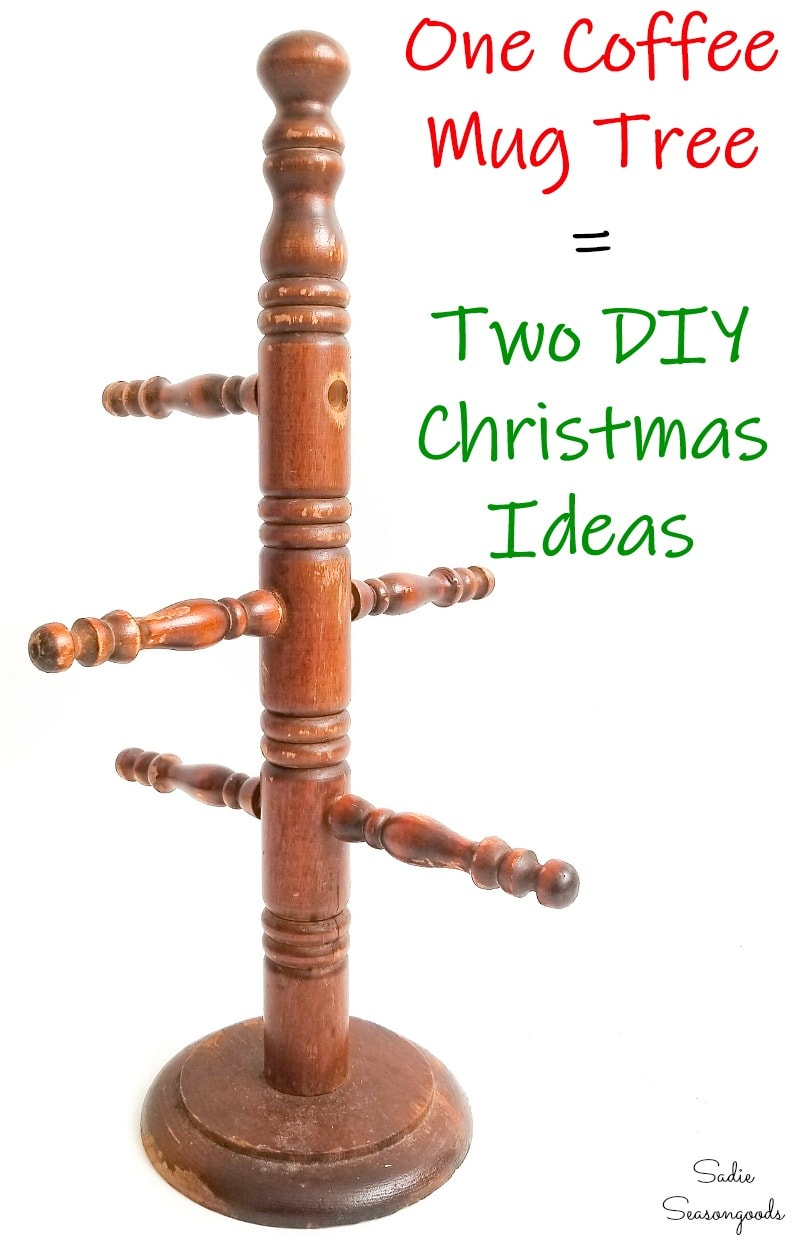 Upcycling ideas for Christmas from a mug holder tree
