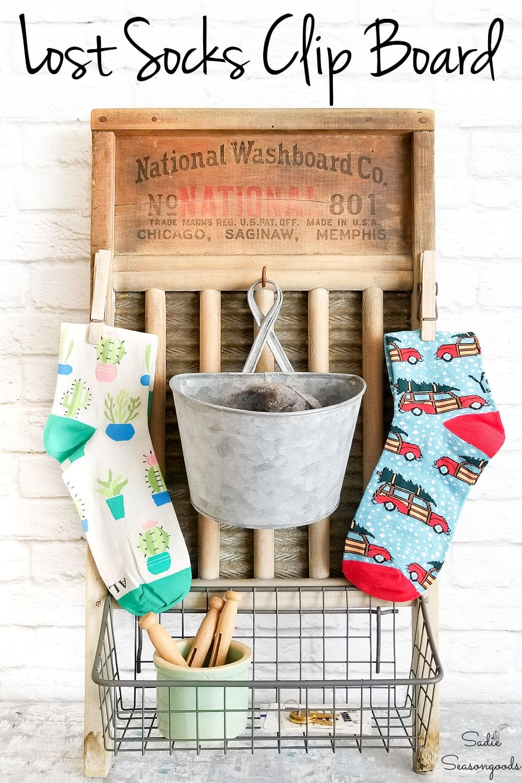 Washboard decor for missing socks