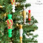 Wooden Spindle Ornaments from a Coffee Mug Tree