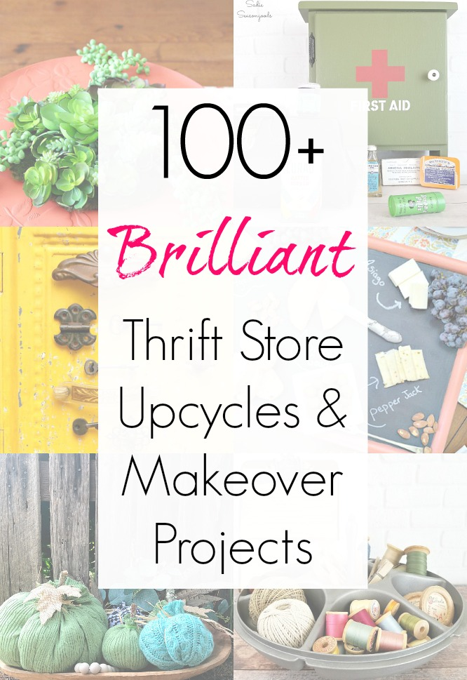 Brilliant upcycling ideas and repurposing projects and thrift store makeover ideas from the Thrift Store Decor Team and Sadie Seasongoods / www.sadieseasongoods.com