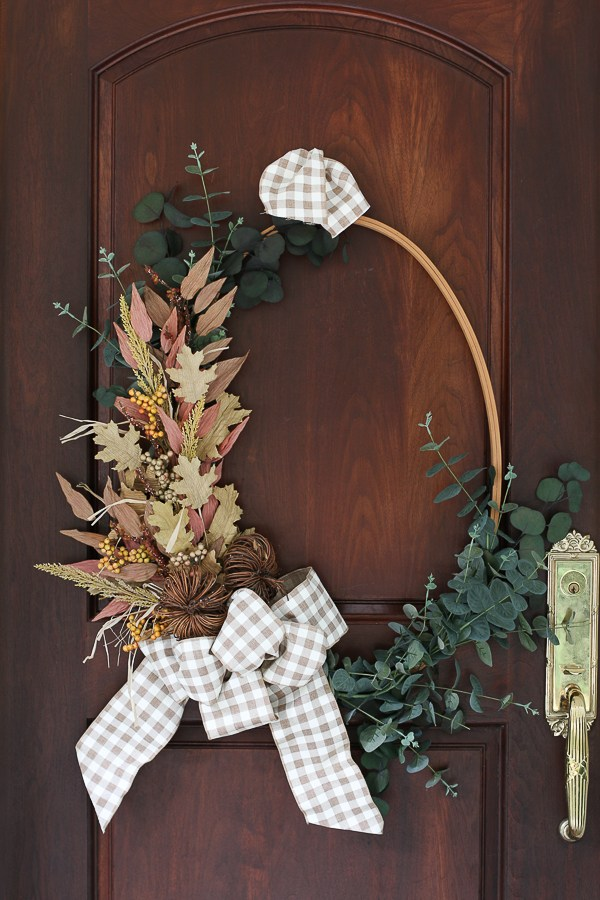 Oval Embroidery hoop wreath by Our Southern Home