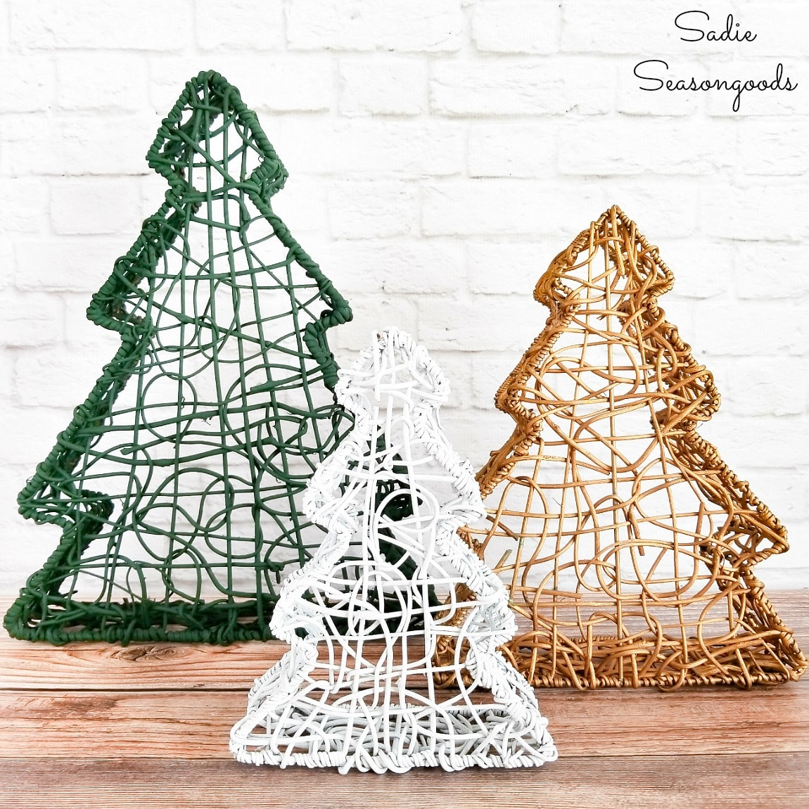 Christmas and Winter Home Decor with Nesting Baskets