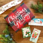 Holiday Card Holder and Buffalo Check Christmas Decor