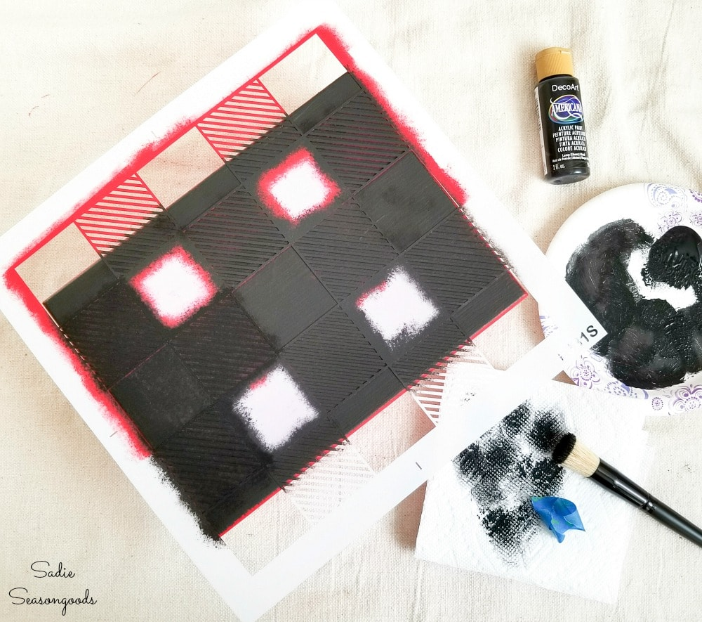 How to paint buffalo plaid