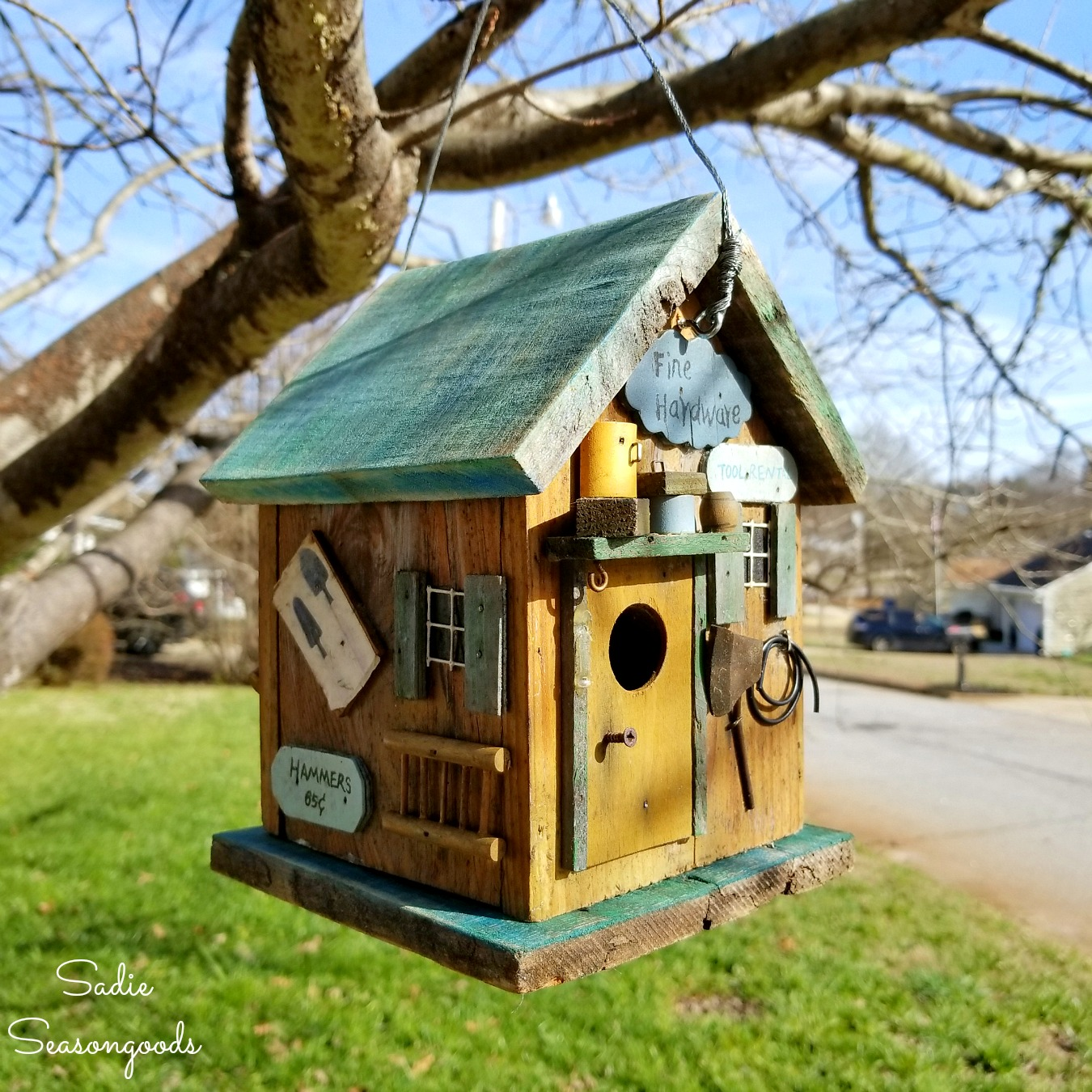 Using Barnwood to Fix a DIY Birdhouse