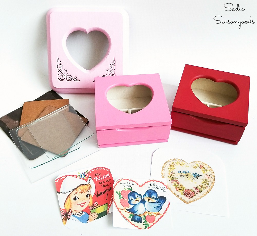 Printable vintage valentines to go in the picture frame jewelry box or ring box