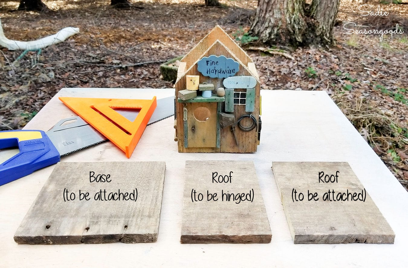 barnwood to fix a rustic birdhouse