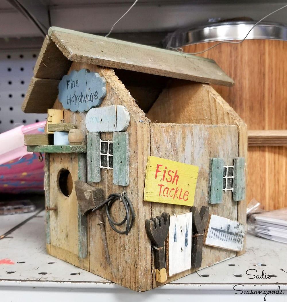 broken birdhouse