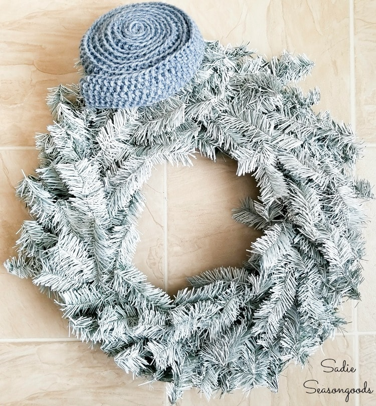 Decorating a wreath for January