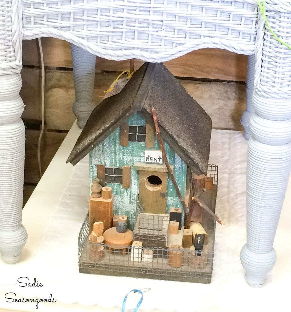decorative birdhouse at an antique store