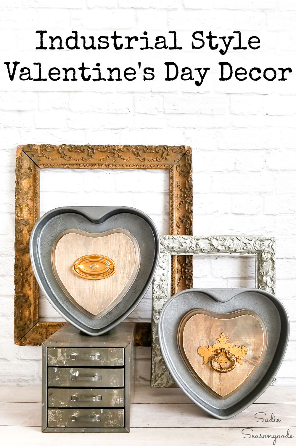 Heart cake pans as Valentine's Day home decor