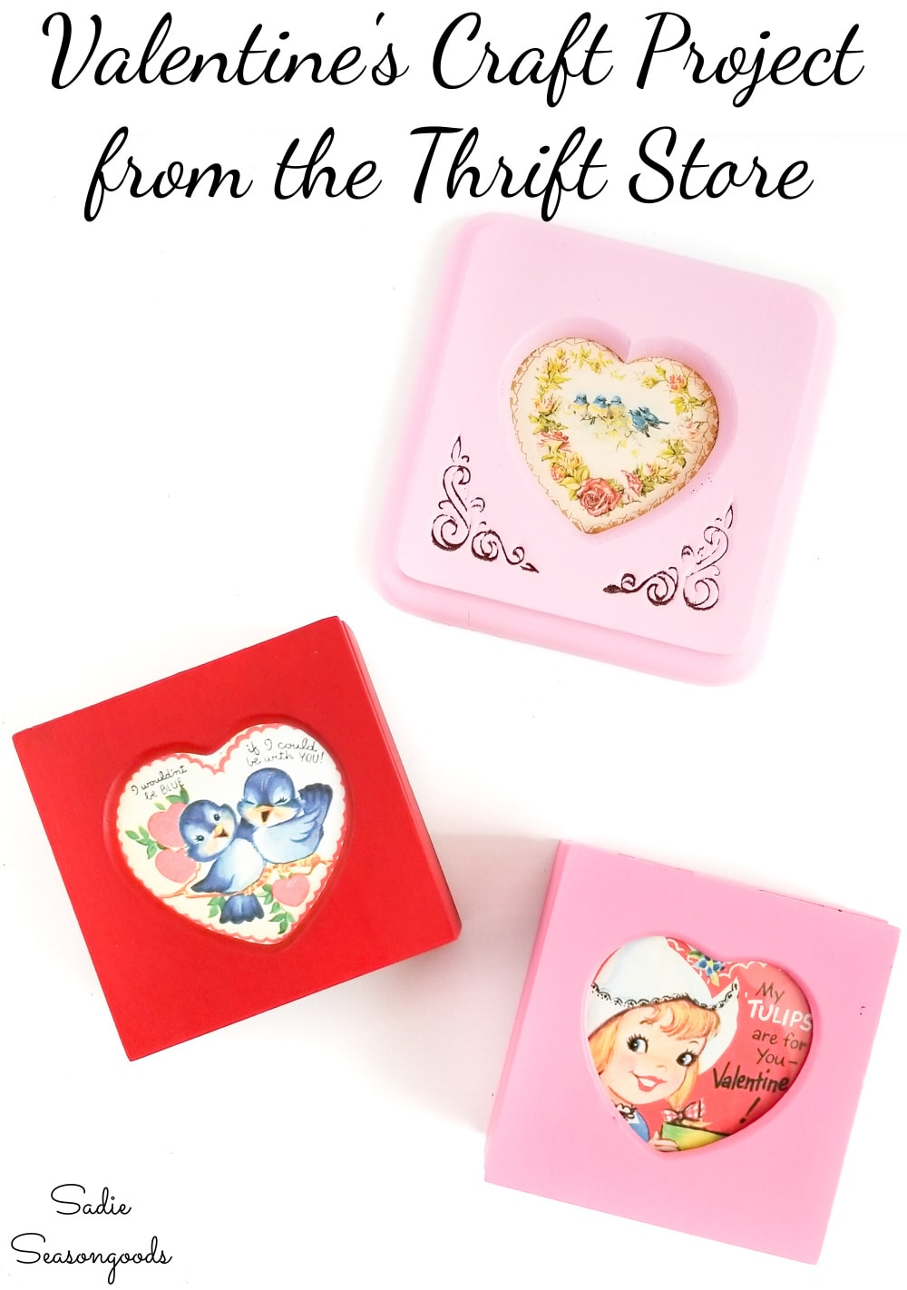Heart shaped trinket boxes for Valentine's Day