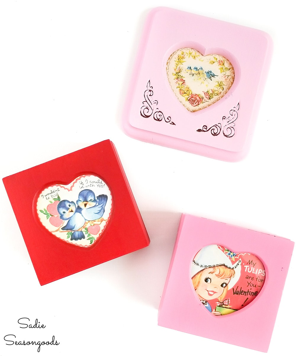 Picture frame jewelry boxes for Valentine's Day