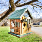Repairing a Rustic Birdhouse with Barnwood