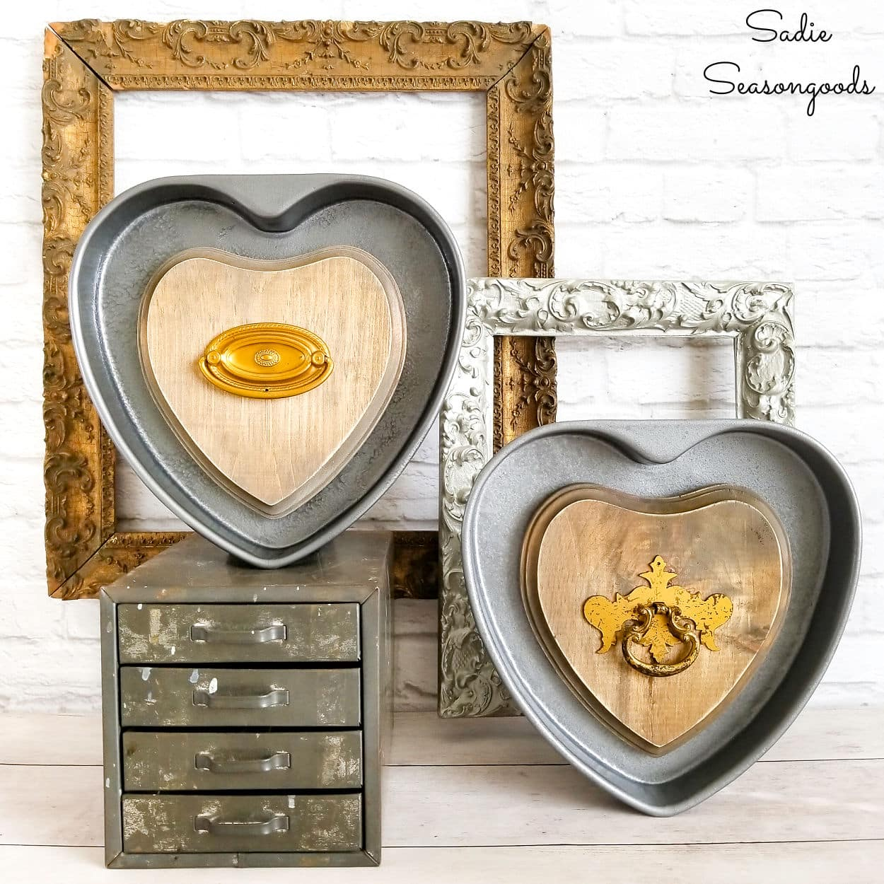 Valentine's Day Home Decor from Heart Cake Pans