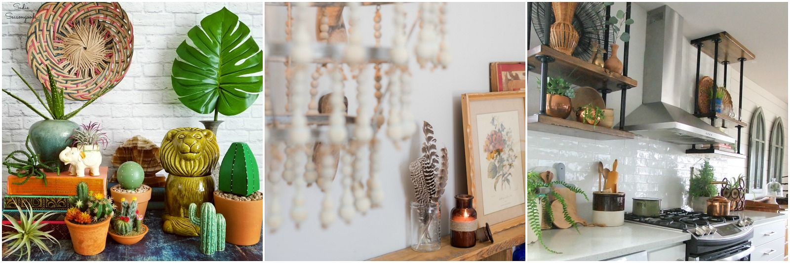 Boho Decor or Modern Bohemian Style by the Creative Vintage Darlings